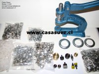 Maquina multiple para Broches, Ojetillos, Remaches, Forrar botones , etc.